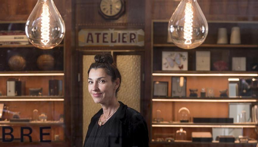 Sophie Pfeffer présente ses collections dans son atelier-show-room du quartier du Marais à Paris. //©Photo fournie par le témoin