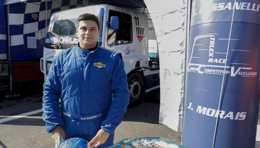 À 24 ans, Kévin Bassanelli est pilote de camion en Coupe de France. //©Marc de Mattia