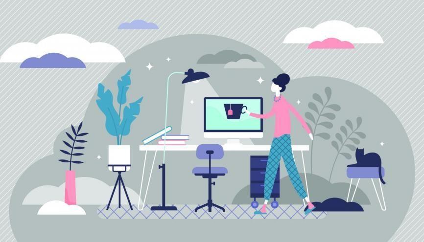 L'Etudiant vous accompagne dans votre travail à la maison. //©Adobe Stock/VectorMine
