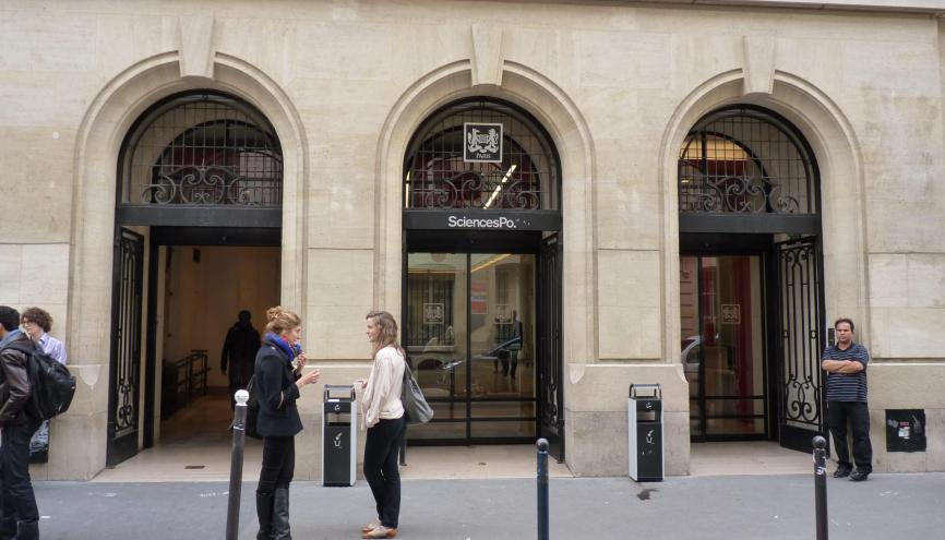 Le FN a franchit les portes de Sciences po. // © Jessica Gourdon