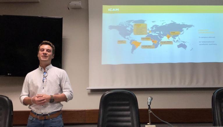 Au Brésil, Victor était chargé de relancer un programme de double-diplôme entre l'Icam et une université de Sao Paulo.