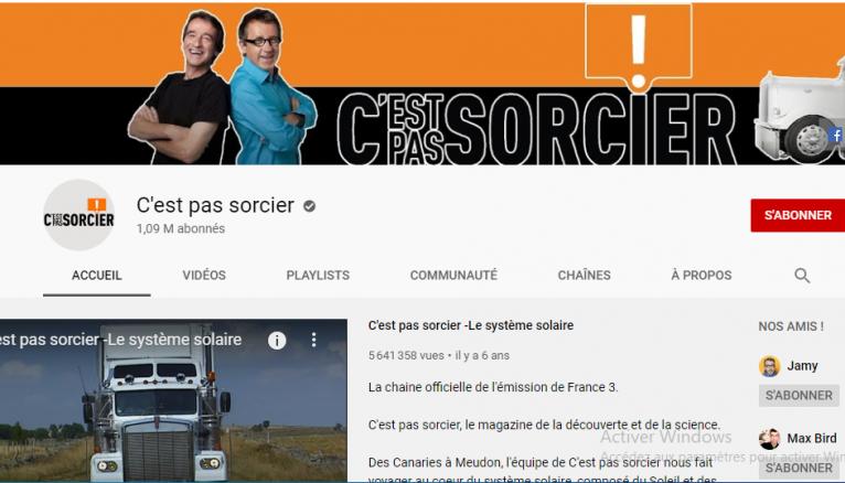 """La chaîne YouTube de l'émission """"C'est pas sorcier est l'un des classiques pour accroître sa culture scientifique."""