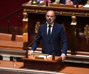 Le Premier ministre, Edouard Philippe, a présenté les grandes lignes du plan de déconfinement devant l'Assemblée nationale, le 28 avril 2020.