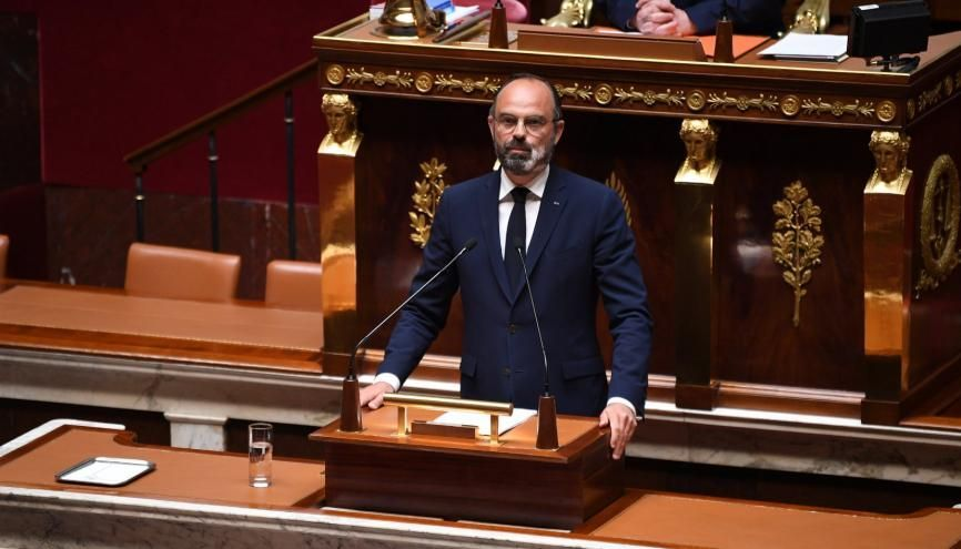Le Premier ministre, Edouard Philippe, a présenté  les grandes lignes du plan de déconfinement devant l'Assemblée nationale, le 28 avril 2020. //©David Niviere/POOL/REA