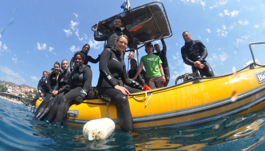 Le master sciences de la mer à l'université de Perpignan permet de nombreuses sorties : embarcations sur des navires océanographiques, plongées sous-marines. //©Nicolas Robin/Université de Perpignan