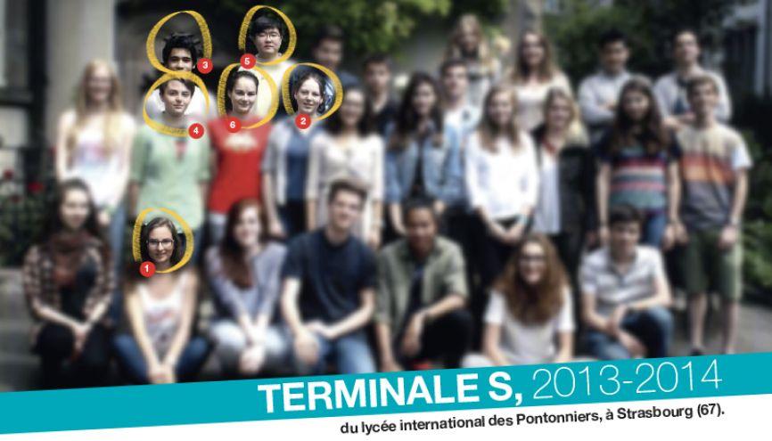 Les élèves de terminale S, année 2013-2014, du lycée international des Pontonniers, à Strasbourg (67). //©Photo fournie par le témoin