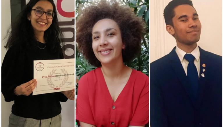 De gauche à droite : Oumnia, Elodie et Saméry ont participé aux conseils étudiants de leurs villes.