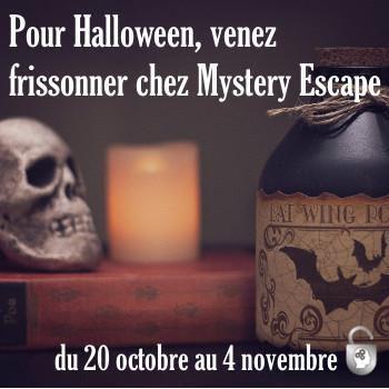 Gagnez une session de jeu chez Mystery Escape et venez frissonner pour d'Halloween !