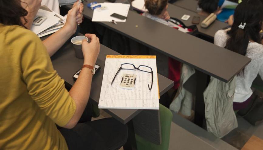 L'UPMC, la fac parisienne qui fait le plus progresser ses élèves, a été la première université à utiliser les boîtiers interactifs en amphi. //©Pierre Kitmacher