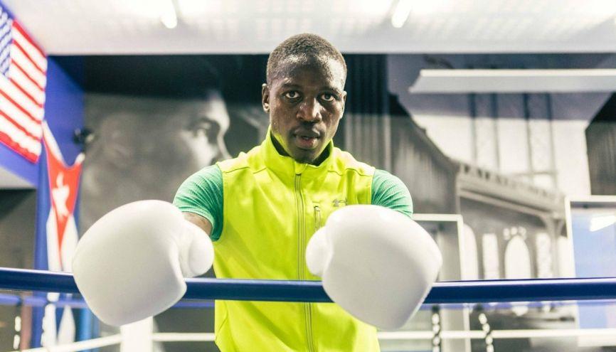 Lorsqu'il prépare un combat, Souleymane s'entraîne deux fois deux heures par jour. //©Philippe Servent pour l'Etudiant