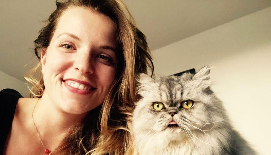 Fanny a choisi de faire du petsitting pour le plaisir d'être entouré d'animaux. //©Photo fournie par le témoin
