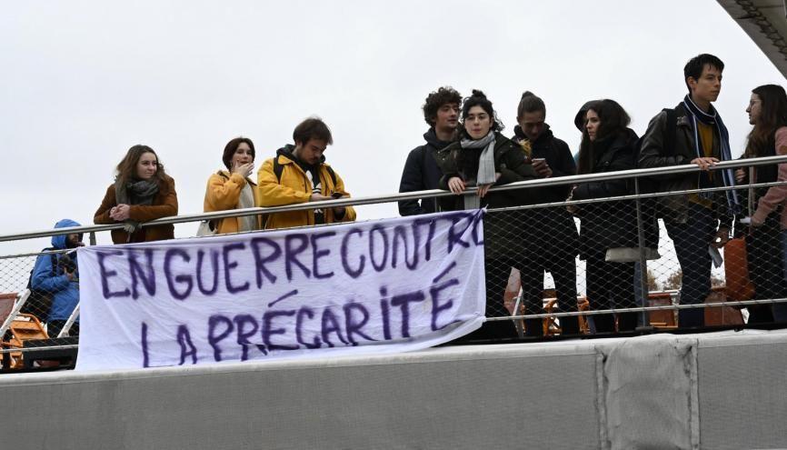 Les associations étudiantes restent mobilisées pour dénoncer la précarité. //©REA - Nicolas TAVERNIER