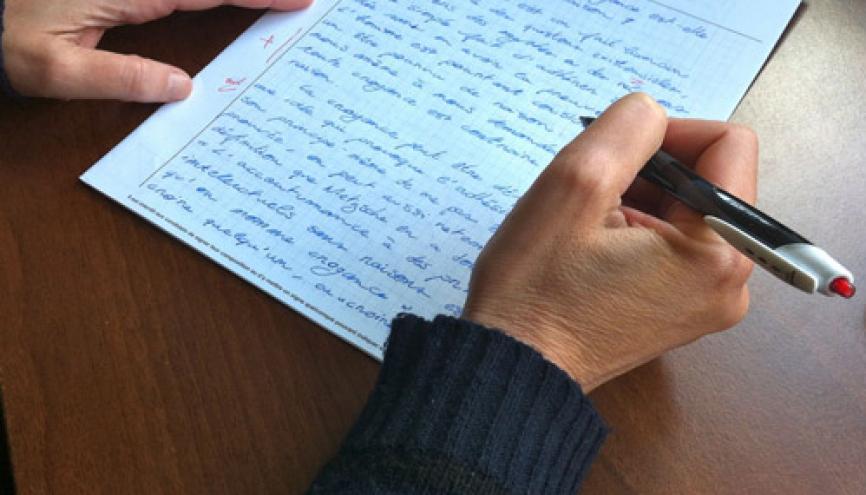 Les enseignants reçoivent des consignes claires avant de corriger les copies de bac. //©Isabelle Dautresme