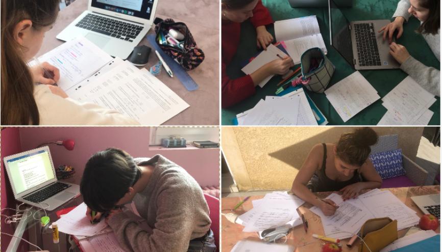 Les étudiants trouvent des astuces pour se motiver à travailler chez eux. //©Photo fournie par le témoin