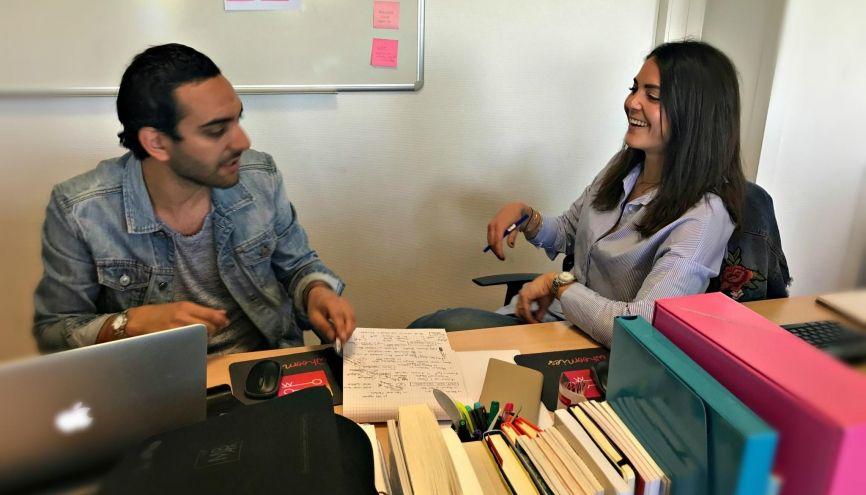 Lauren et Alexandre, son associé, visent un développement à l'international. //©Photo fournie par le témoin