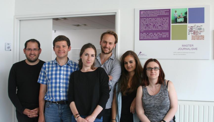 Les étudiants du master de journalisme de l'université de Cergy-Pontoise //©Université de Cergy pontoise