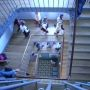 Escalier - Sciences po Saint-Germain-en-Laye. // © Marie-Anne Nourry