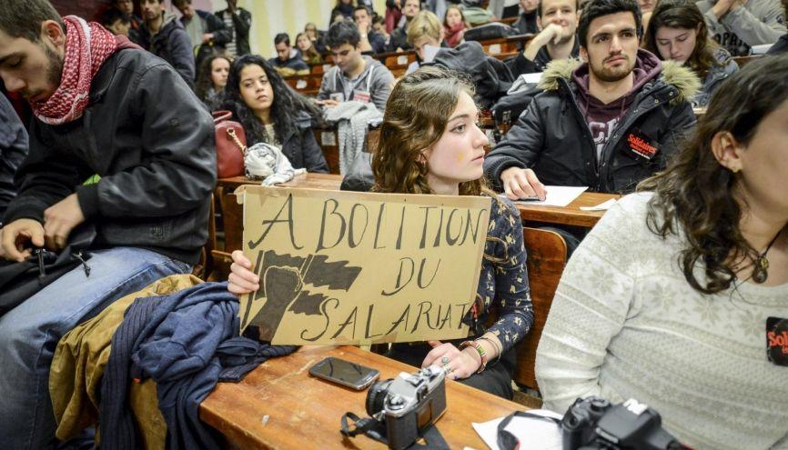 Grève mercredi 9 mars 2016 à l'université Paris 1 – Tolbiac contre l'avant-projet de loi El Khomri de réforme du Code du travail. //©Olivier SAINT-HILAIRE/HAYTHAM-REA