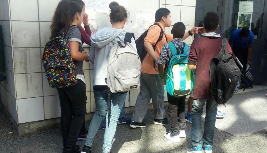 Les élèves de cinquième du collège Edmond-Michelet n'ont pas entendu parler de la réforme du collège. //©Laura Taillandier
