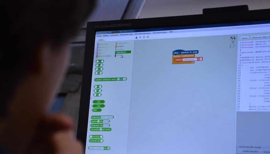 L'ICN apprend à coder, à créer des sites Internet, des jeux sur ordinateur... //©erwin canard