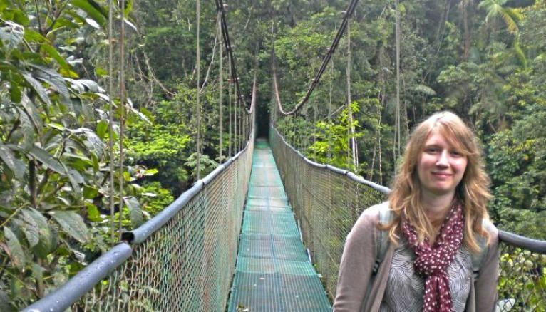 Séverine a découvert l'écotourisme lors d'un stage au Costa Rica pendant sa L3.