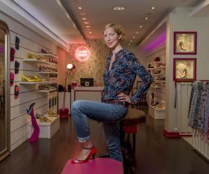 Annabel a ouvert sa propre boutique en 2010, rue du Dragon, à Paris.