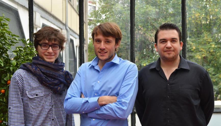 L'équipe de MyArtMakers : Bertrant Debrie, Adrien Saix et Yohan Doaré. //©DR
