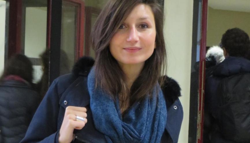 Agathe, étudiante en 3e année de licence sciences de la santé Paris-Descartes. //©Virginie Bertereau
