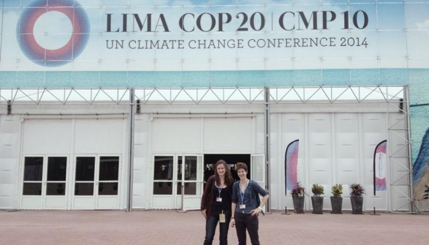 Lors de la dernière Conférence des Nations unies sur les changements climatiques à Lima, les étudiants étaient présents et impliqués. //©REFEDD