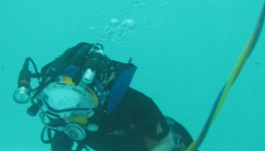 """""""J'ai beaucoup aimé travailler avec des plongeurs, c'est un milieu de passionnés."""" //©DR"""