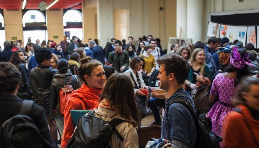 Le campus de la rue Saint-Guillaume accueille la moitié des étudiants de Sciences po Paris //©Myr Muratet pour l'Étudiant