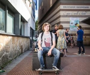 Maël, 18 ans, titulaire d'un DUT en informatique, à l'IUT d'Amiens.