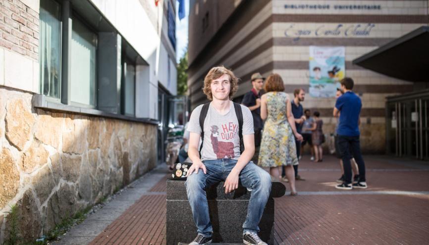 Maël, 18 ans, titulaire d'un DUT en informatique, à l'IUT d'Amiens. //©Laurent Guizard/Divergence pour l'Etudiant