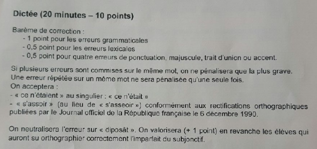 Extrait des consignes données aux correcteurs du brevet de français //©Capture d'écran