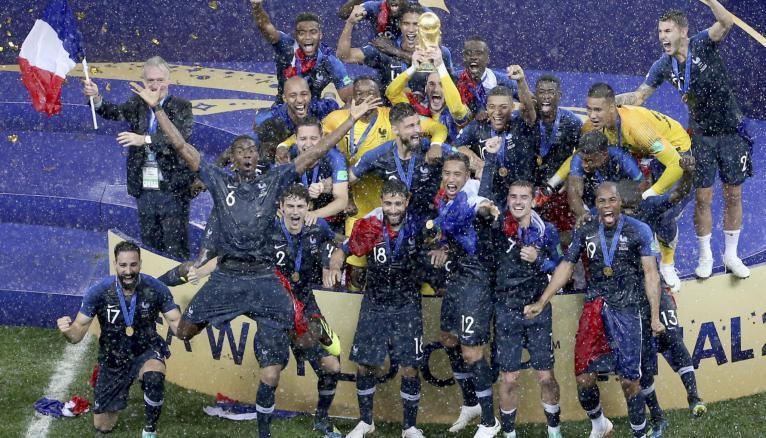 L'équipe de France, championne du monde de football 2018, est bien partie pour créer des vocations...