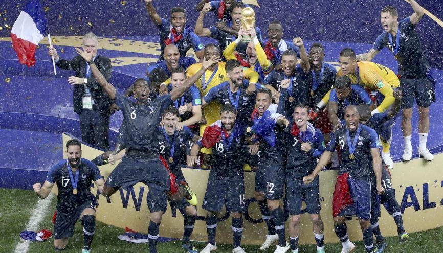 L'équipe de France, championne du monde de football 2018, est bien partie pour créer des vocations... //©Li Ming/XINHUA-REA