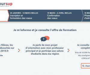 Depuis le 20 décembre 2018, le site Parcoursup.fr est de nouveau accessible. Vous pouvez connaître en détails le calendrier 2018-2019 et commencer à réfléchir à votre orientation.