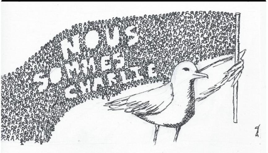 """Extrait du numéro de janvier 2015 de """"La Mouette bâillonnée"""", journal du lycée Marcelin-Berthelot."""