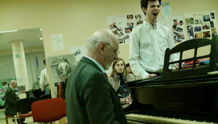 À Moscou, Alexis profite à fond de la vie culturelle et notamment du théâtre Bolchoï, dont l'entrée est gratuite pour les étudiants. Il chante lui-même dans le chœur de l'université. //©Marc Bonneville pour l'Étudiant