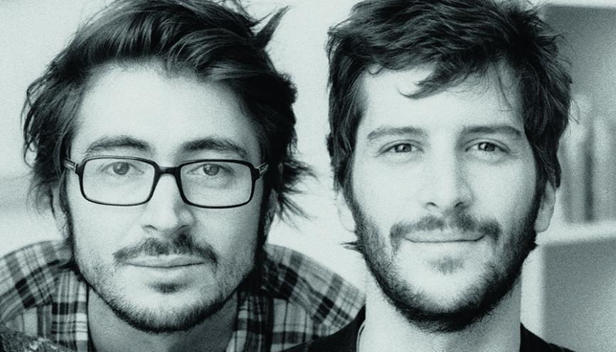 """Romain Rachlin (à gauche) et Maxime Tétard, fondateurs des Graphiquants : """"L'ESAD d'Amiens forme des professionnels ayant une vraie culture du graphisme."""" //©Photo fournie par le témoin"""