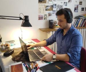 """Erwan a effectué une """"mobilité à distance"""" grâce au programme Erasmus+."""