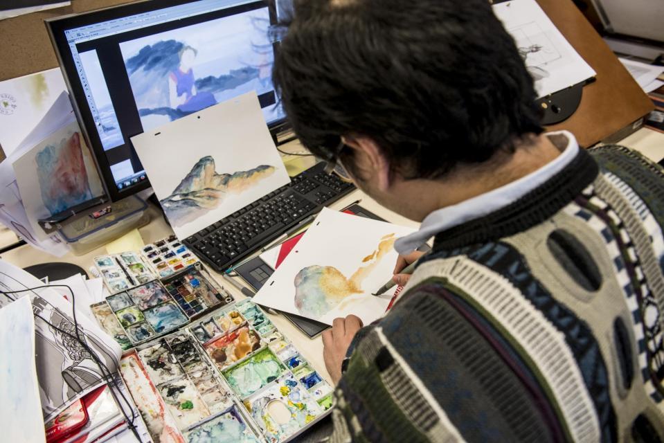 À l'école des Gobelins, les étudiants du cursus concepteur-réalisateur de films d'animation doivent posséder un haut niveau en dessin. //©Éric Garault pour L'Étudiant
