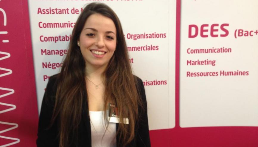 Sofia, en master2 Management des entreprises. //©Stéphane Moret