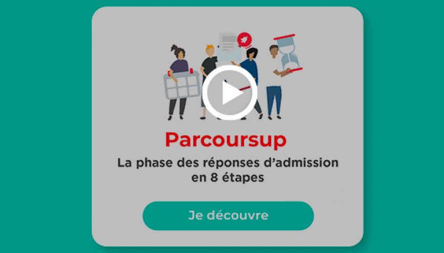 Vidéo Parcoursup : la phase des réponses d'admission en 8 étapes //©letudiant.fr