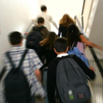À partir de la sixième, les élèves changent de classe à chaque cours. //©Phovoir