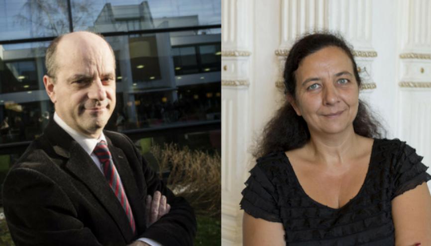 Jean-Michel Blanquer et Frédérique Vidal. //©Denis Allard / REA - Université de Nice