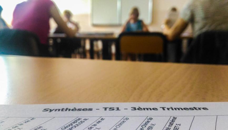Cette année, les profs inauguraient une nouvelle version du conseil de classe du deuxième trimestre de terminale. //©erwin canard