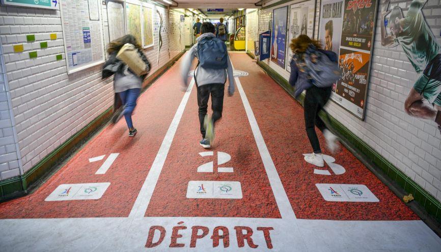 Collégiens, lycéens, étudiants : si vous voulez être prêts pour les JO Paris2024, soyez dans les starting-blocks ! //©Eliott PIERMONT/REA