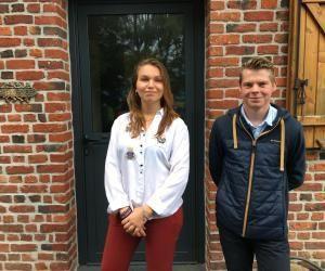 Manon et Justin ont élu domicile dans une ferme pour leurs études.