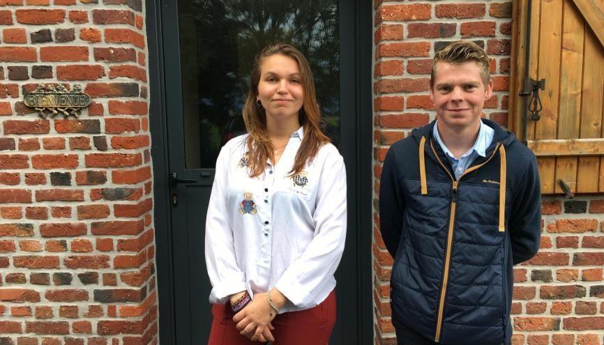 Manon et Justin ont élu domicile dans une ferme pour leurs études. //©l'Etudiant